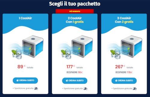 coolair prezzo