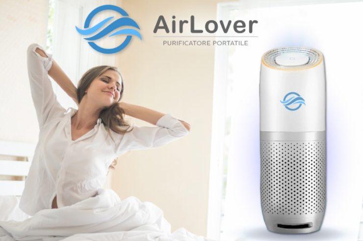 recensione purificatore d'aria portatile airlover